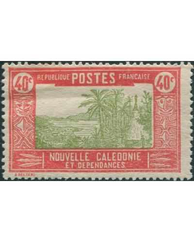 New Caledonia 1928 SG148 40c Hut MNH