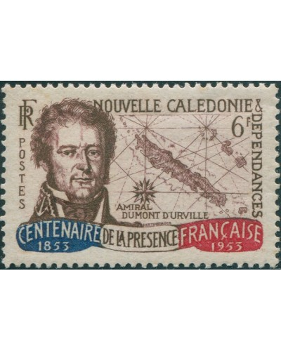 New Caledonia 1953 SG333 6f Admiral D'Entrecasteaux MNH