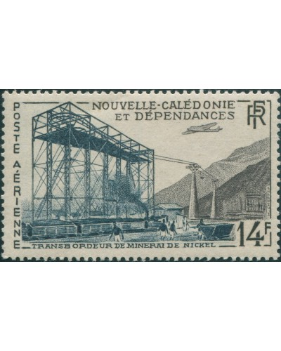 New Caledonia 1955 SG339 14f Nickel MNH