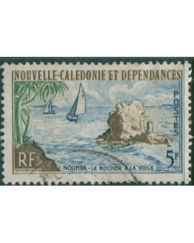 New Caledonia 1959 SG348 5f Sail Rock FU