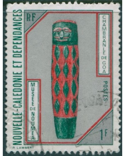 New Caledonia 1972 SG501 1f Goa Door-post FU