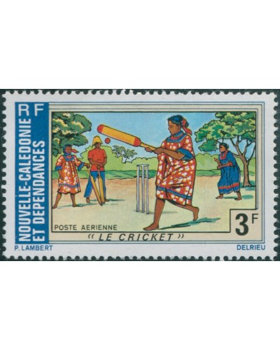 New Caledonia 1975 SG548 3f Cricket MNH