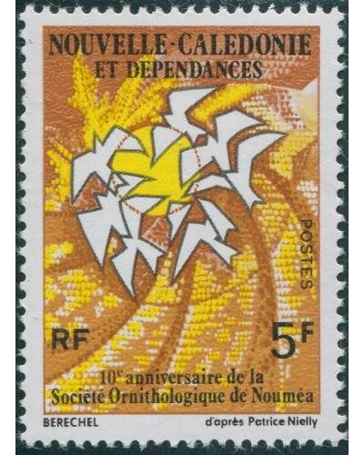 New Caledonia 1975 SG558 5f Ornithological Society MNH