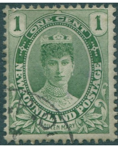 Newfoundland 1911 SG117 1c yellow-green Queen Mary FU