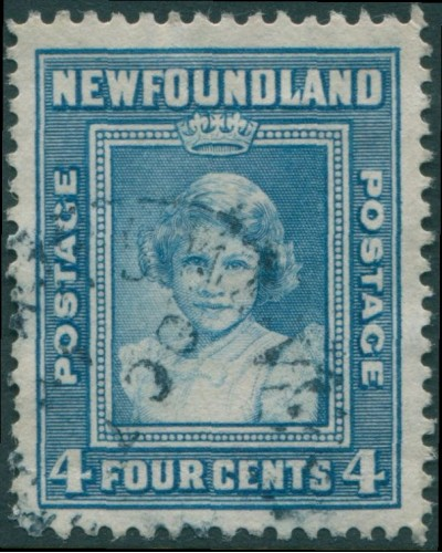 Newfoundland 1938 SG279 4c light blue Princess Elizabeth FU