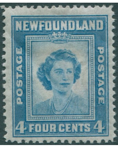 Newfoundland 1947 SG293 4c light blue Princess Elizabeth MLH