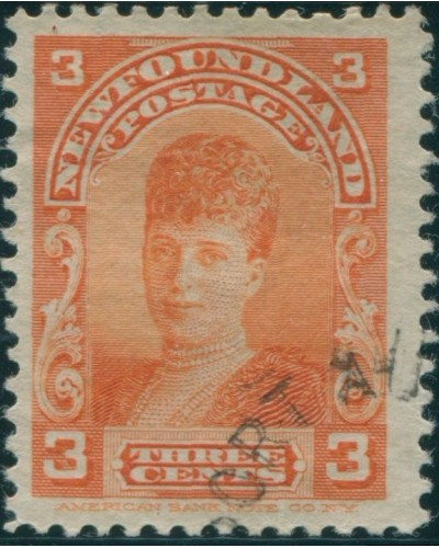Newfoundland 1897 SG88 3c orange Queen Alexandra FU