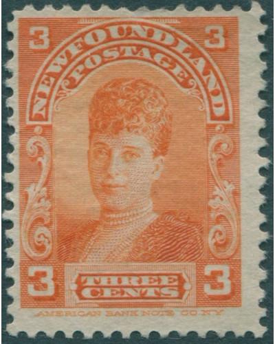 Newfoundland 1897 SG88 3c orange Queen Alexandra MNG