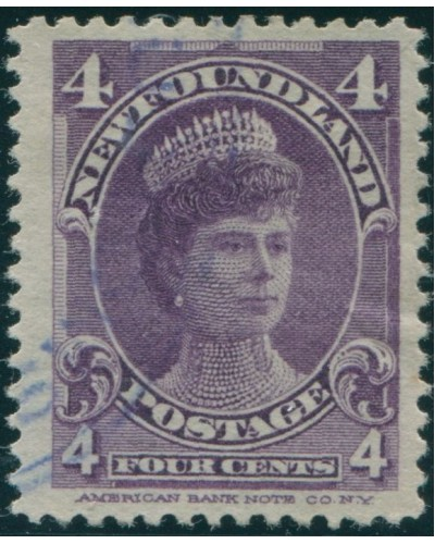 Newfoundland 1897 SG89 4c violet Queen Mary FU