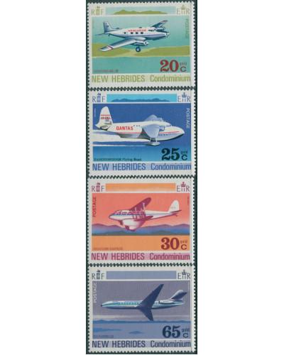 New Hebrides 1972 SG154-157 Aircraft set MLH