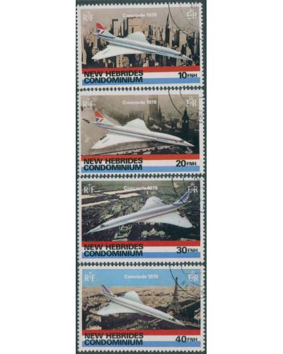 New Hebrides 1978 SG258-261 Concorde set FU