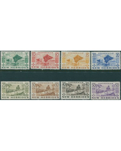 New Hebrides 1953 SG68-75 Outrigger Canoes MLH
