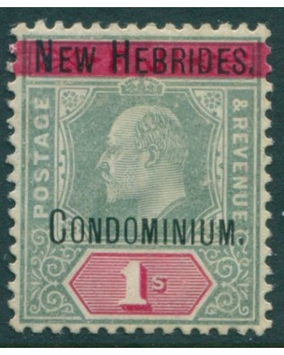 New Hebrides 1908 SG9 1s green and carmine KEVII MH