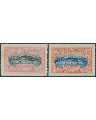 New Hebrides 1897 local interisland Port Vila set MLH