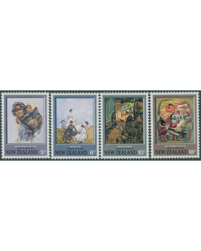 New Zealand 1973 SG1027-1030 Paintings set MLH