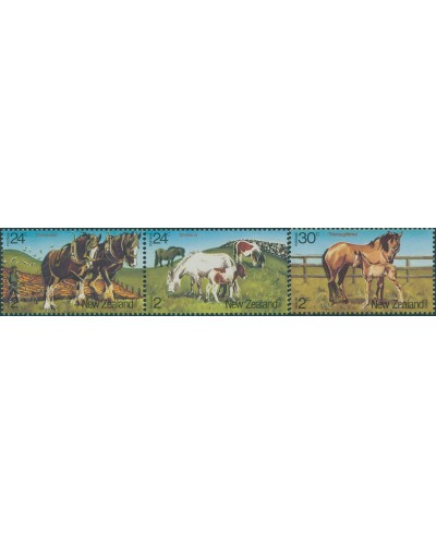 New Zealand 1984 SG1345-1347 Health Horses set MNH