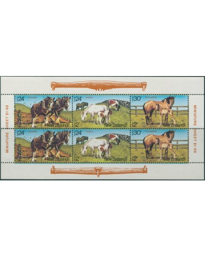 New Zealand 1984 SG1348 Health Horses MS MNH