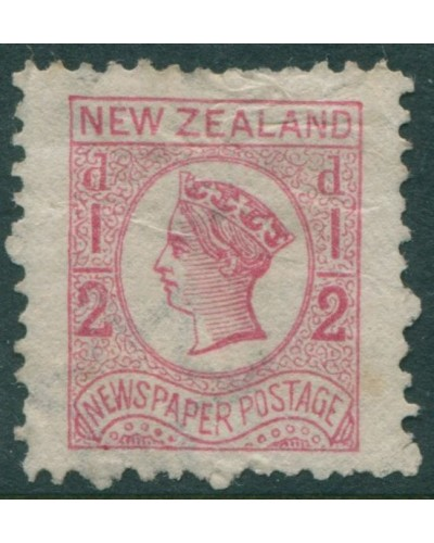 New Zealand 1875 SG149 ½d pale dull rose Newspaper Postage QV MNG