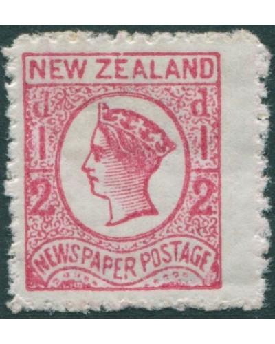 New Zealand 1892 SG151 ½d bright rose Newspaper Postage QV MLH