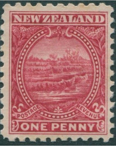 New Zealand 1900 SG274 1d crimson White Terrace MH