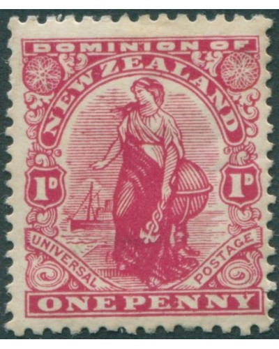 New Zealand 1909 SG406 1d deep-carmine Dominion p14x15 MLH