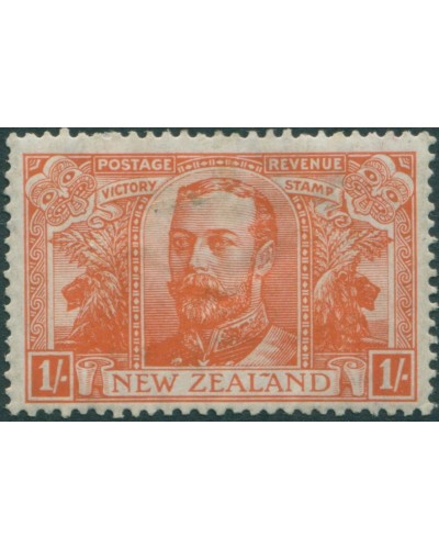 New Zealand 1920 SG458 1/- orange-red Victory MLH