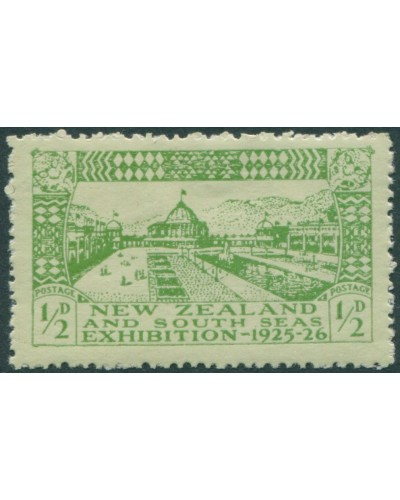 New Zealand 1925 SG463 ½d yellow-green/green Exhibition Buildings MLH