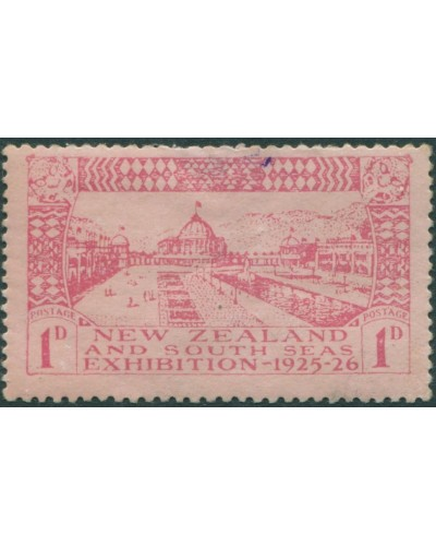 New Zealand 1925 SG464 1d carmine/rose Exhibition Buildings MLH