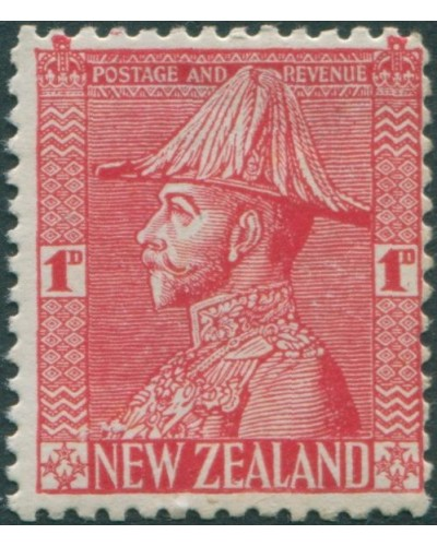 New Zealand 1926 SG468 1d rose-carmine KGV as Field-Marshall thick paper MNH
