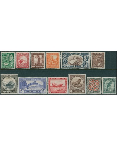 New Zealand 1935 SG556-567 definitives to 1/- MH