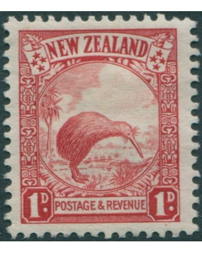 New Zealand 1935 SG557 1d scarlet Brown Kiwi MLH