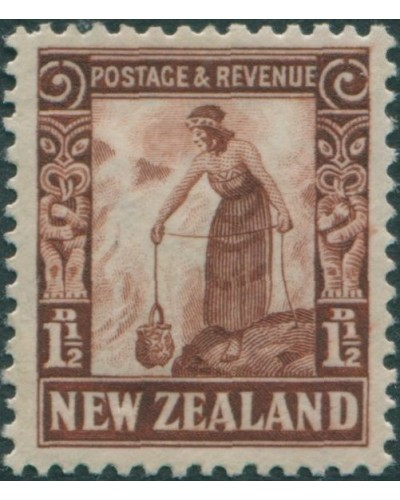 New Zealand 1935 SG558 1½d red-brown Maori Woman MLH