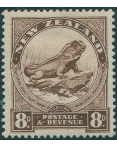 New Zealand 1935 SG565 8d chocolate Tuatara Lizard MLH