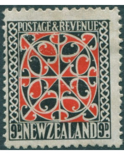 New Zealand 1935 SG566 9d scarlet and black Maori Panel MH