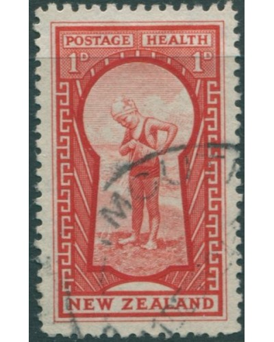 New Zealand 1935 SG576 1d + 1d red Key to Health FU