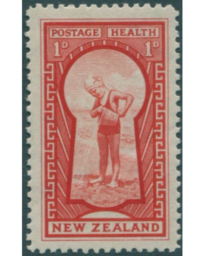New Zealand 1935 SG576 1d + 1d the Key To Health MNH