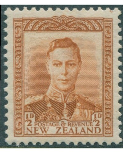 New Zealand 1938 SG604 ½d orange-brown KGVI MNH