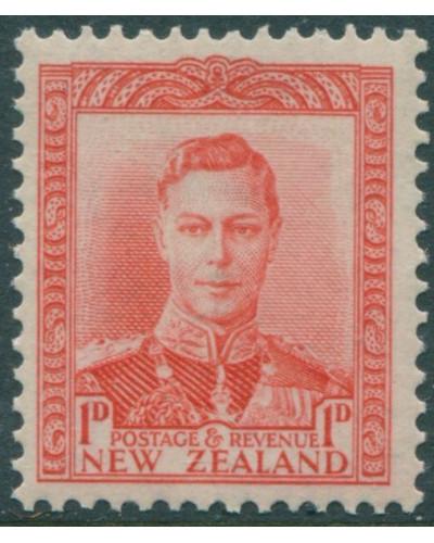 New Zealand 1938 SG605 1d scarlet KGVI MNH