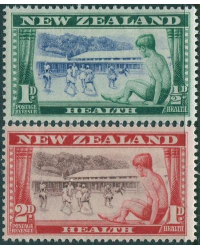 New Zealand 1948 SG696-697 Children Playing set MNH