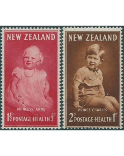 New Zealand 1952 SG710-711 Pricess Anne and Prince Charles MNH