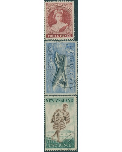 New Zealand 1955 SG739-741 First Stamps set FU