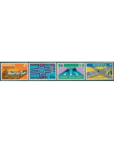 Nigeria 1972 SG273-276 Driving on the Right set MNH