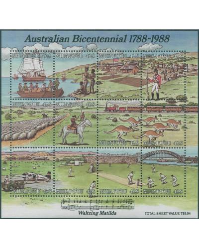Niuafo'ou 1988 SG107 Australian Bi-centenary MS MNH