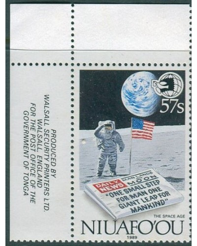 Niuafo'ou 1989 SG131 57s Space Age World Stamp Expo corner issue MNH