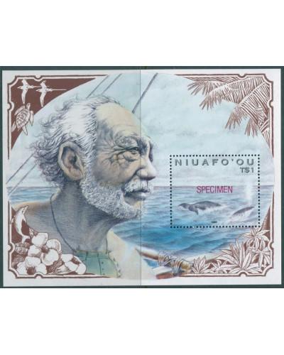 Niuafo'ou 1990 SG147 Polynesian Whaling SPECIMEN MS MNH