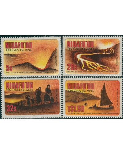 Niuafo'ou 1983 SG23-26 Resettlement set MNH