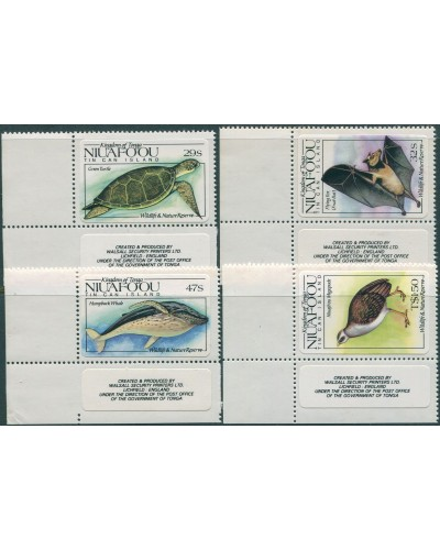 Niuafo'ou 1984 SG42-45 Wildlife and Nature Reserve corner set MNH