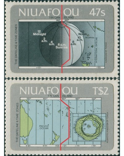 Niuafo'ou 1984 SG46-47 International Dateline set MNH