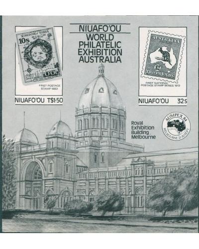 Niuafo'ou 1984 SG50 Ausipex Stamp Expo MS black print MNH
