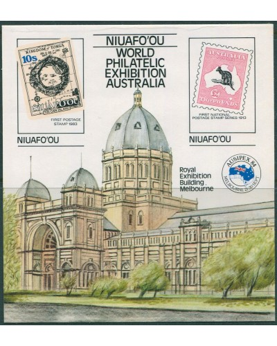 Niuafo'ou 1984 SG50 Ausipex Stamp Expo MS no values imperf MNH